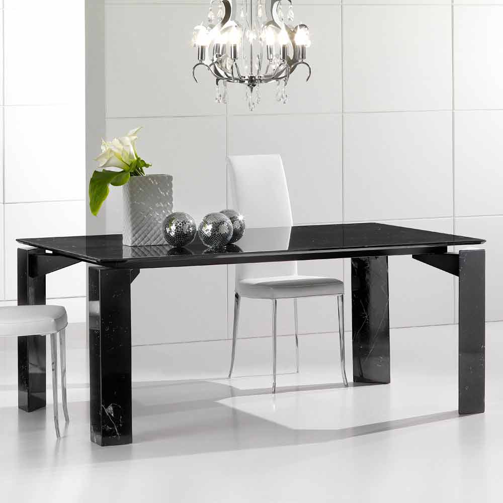 table manger fixe de marbre avec plateau suspendu placido. Black Bedroom Furniture Sets. Home Design Ideas