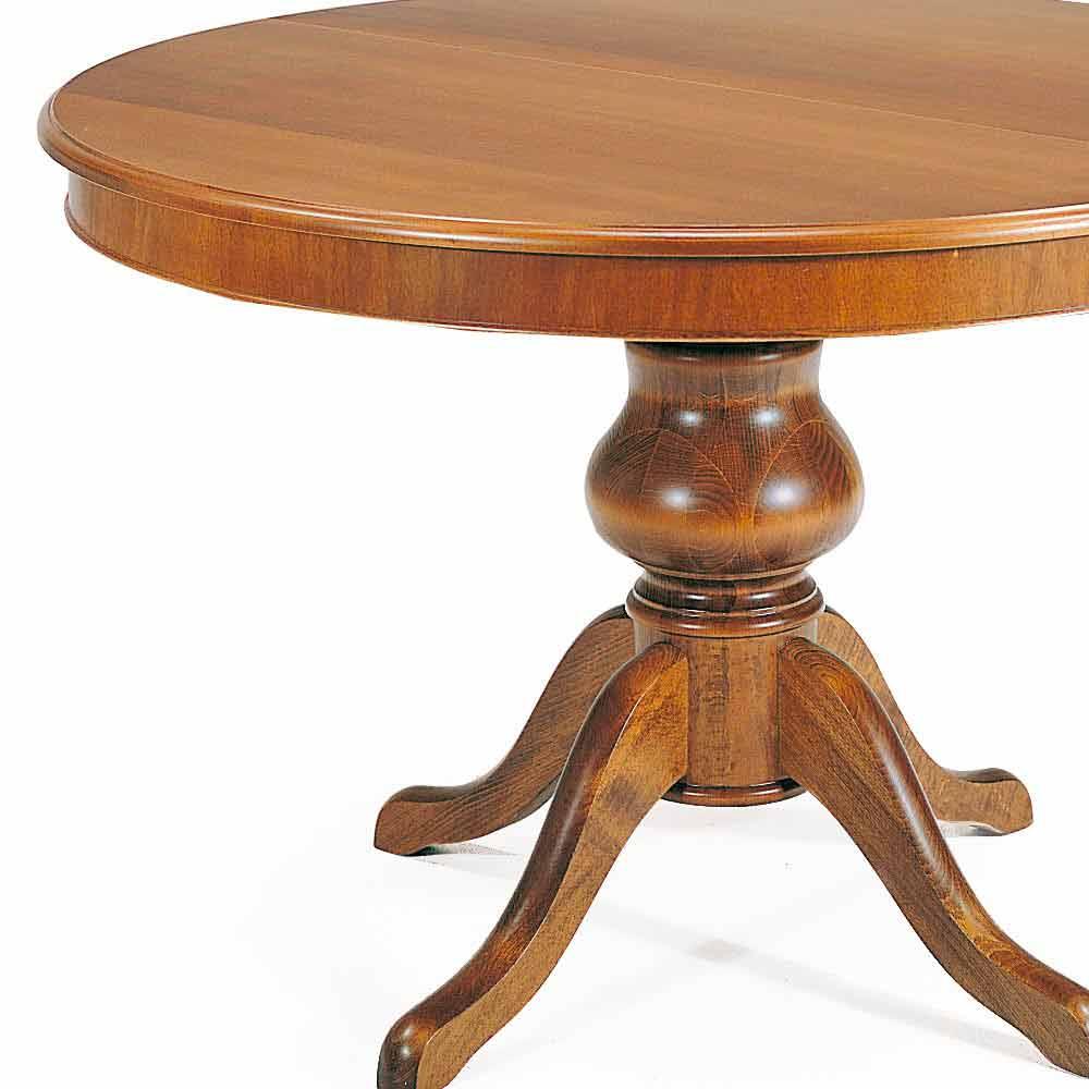 Table de salle manger ronde en bois massif oliva for Table de salle a manger ronde en bois
