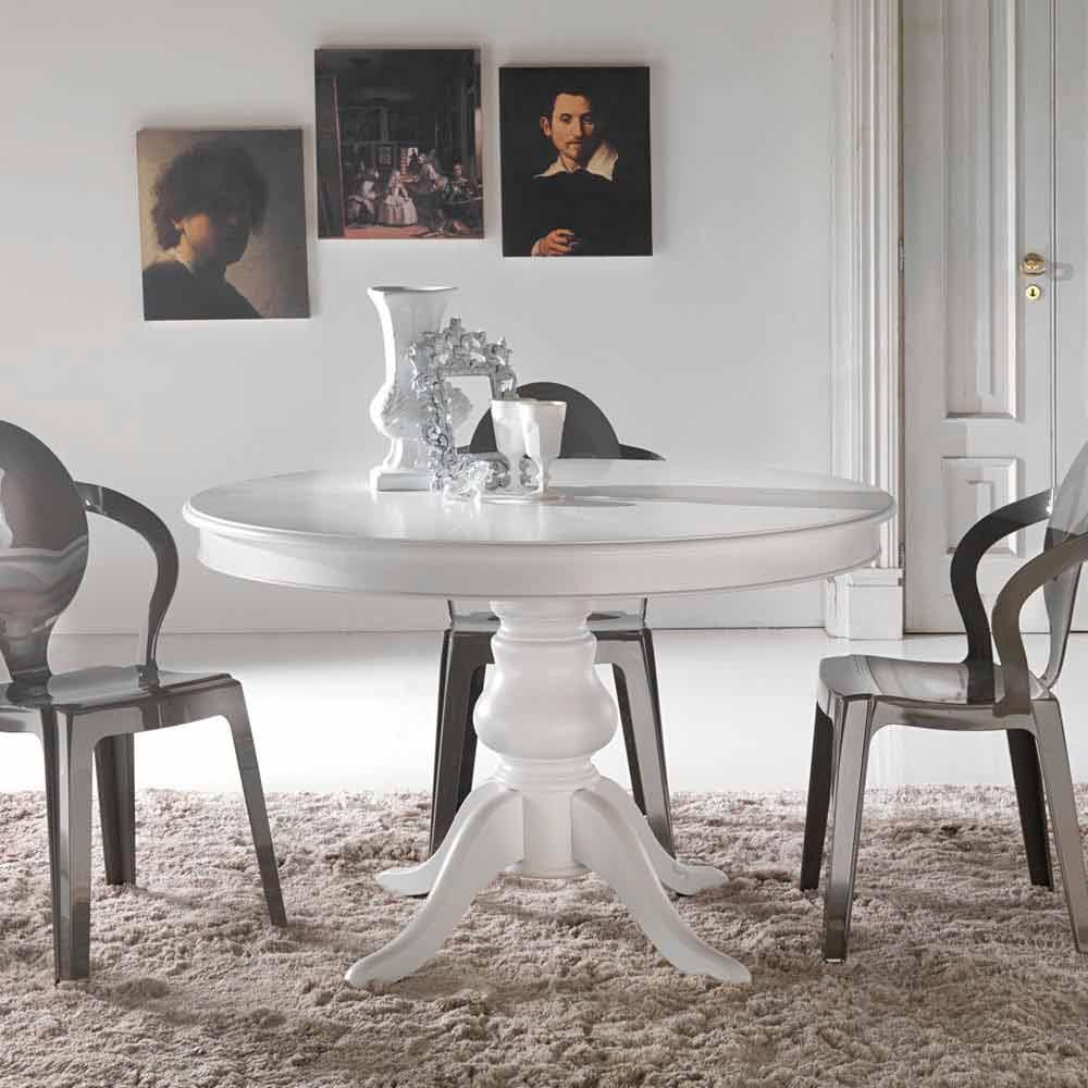 Table de salle à manger ronde en bois massif Oliva
