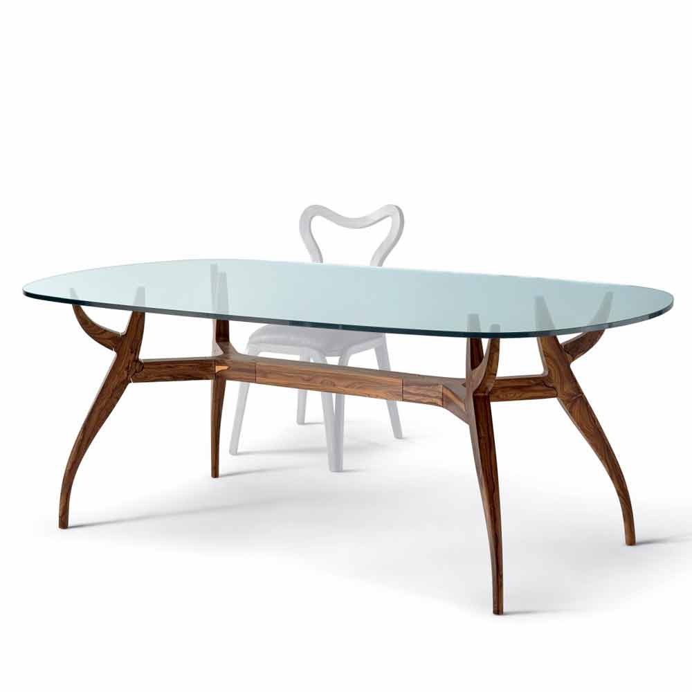 Table ovale manger en bois design moderne l197x109cm fraco for Table ovale moderne