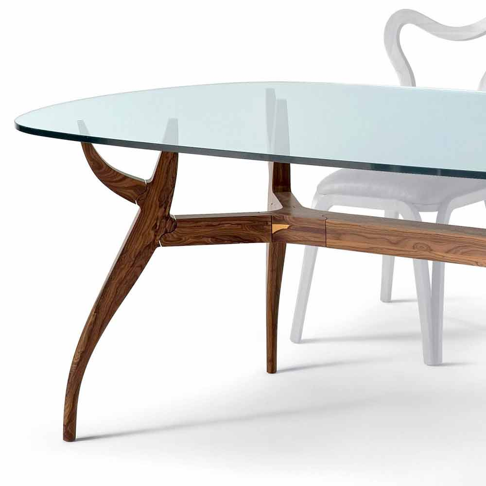 Table ovale manger en bois design moderne l197x109cm fraco for Table a manger en bois moderne