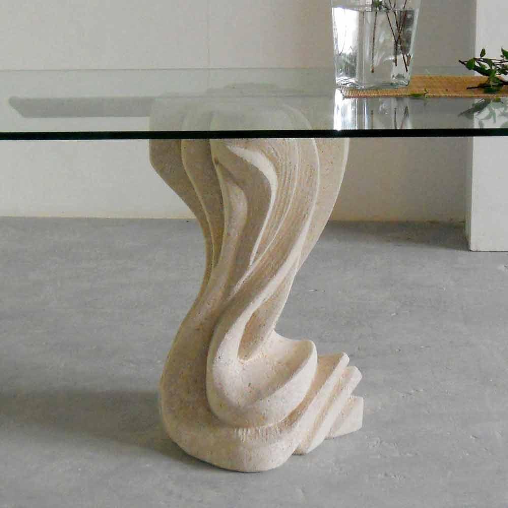 table manger en pierre naturelle de vicenza plateau en. Black Bedroom Furniture Sets. Home Design Ideas
