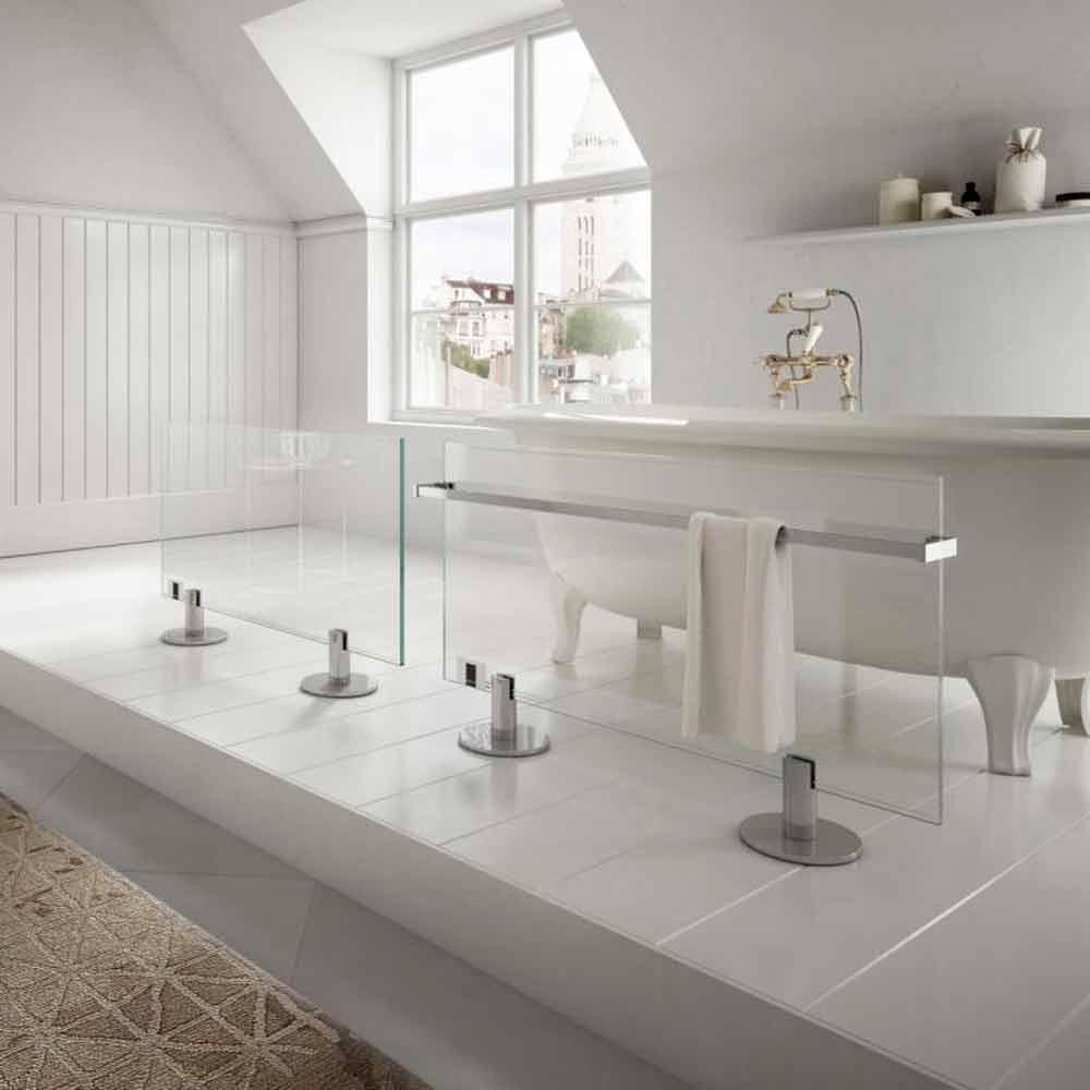 radiateur lectrique de sol de design en verre transparent. Black Bedroom Furniture Sets. Home Design Ideas