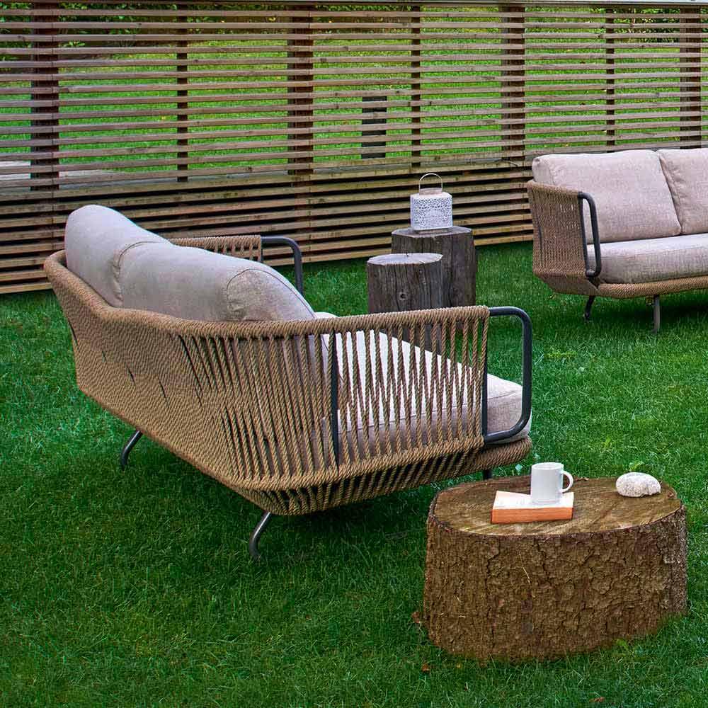 Salon de jardin de design moderne, base en aluminium modèle Varaschin  Babylon