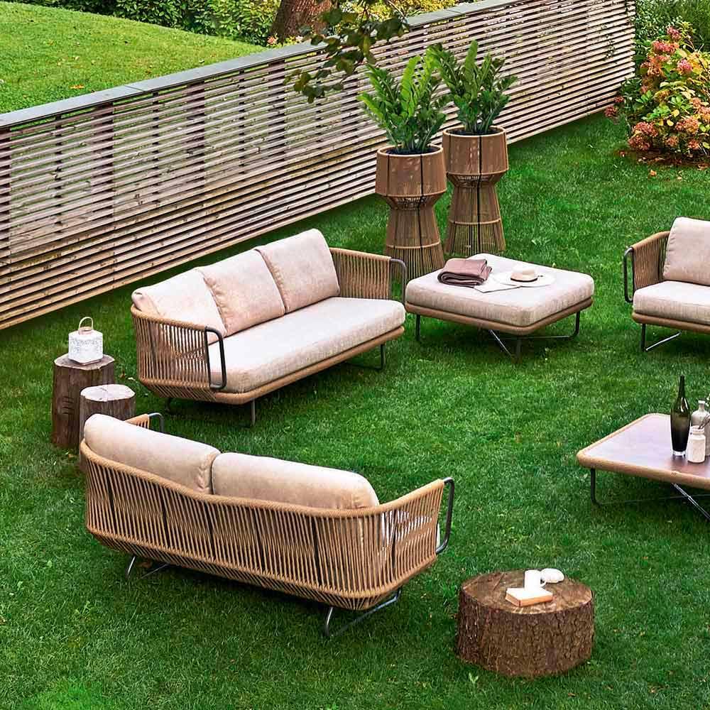 Varaschin Babylon Salon De Jardin Moderne En Aluminium Et Corde