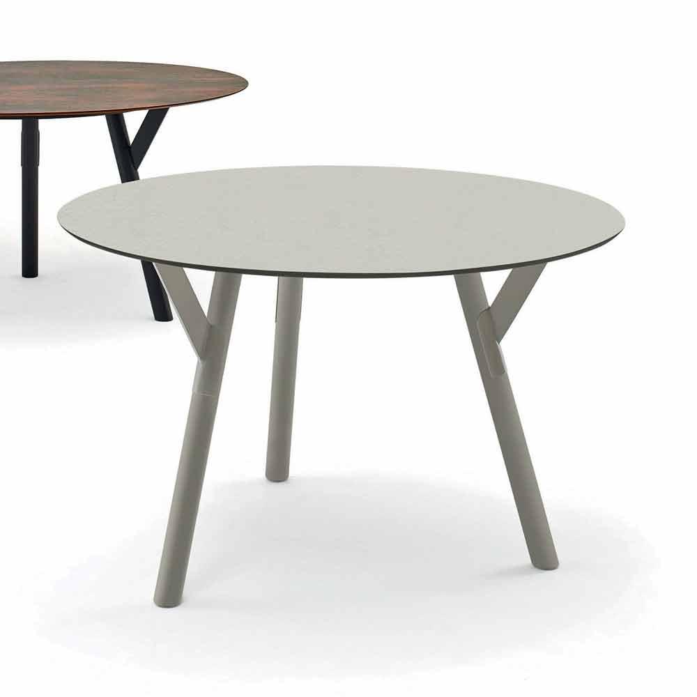 varaschin link table ronde de jardin de design moderne h 75 cm. Black Bedroom Furniture Sets. Home Design Ideas