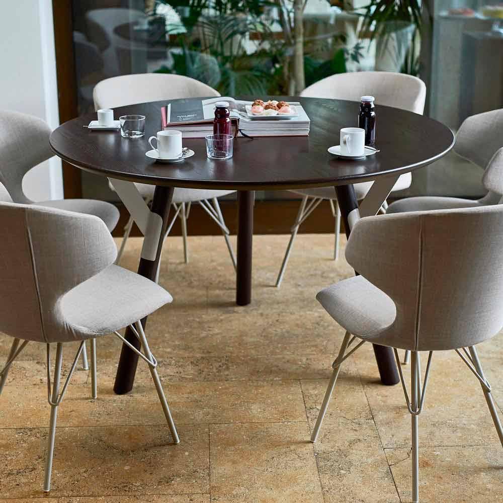 Varaschin link table ronde de jardin de design moderne h - Table de jardin moderne ...