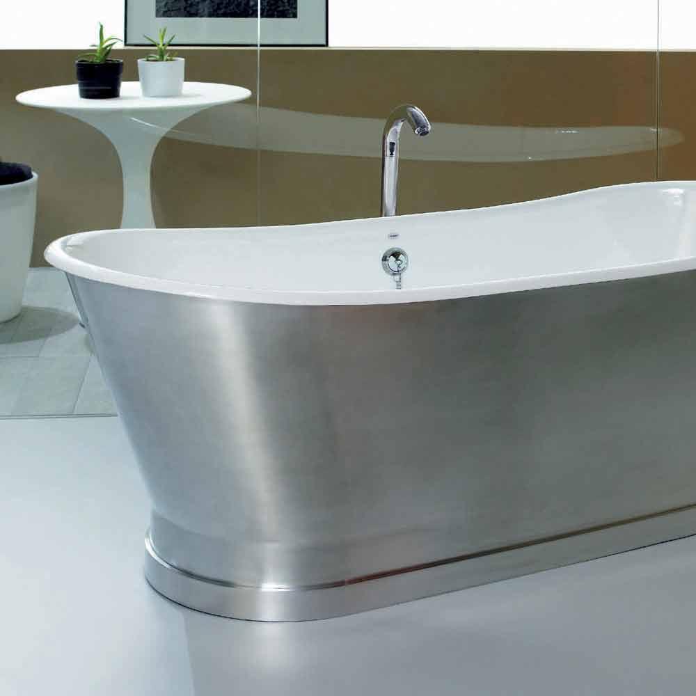 baignoire de design au sol en fonte romeo. Black Bedroom Furniture Sets. Home Design Ideas