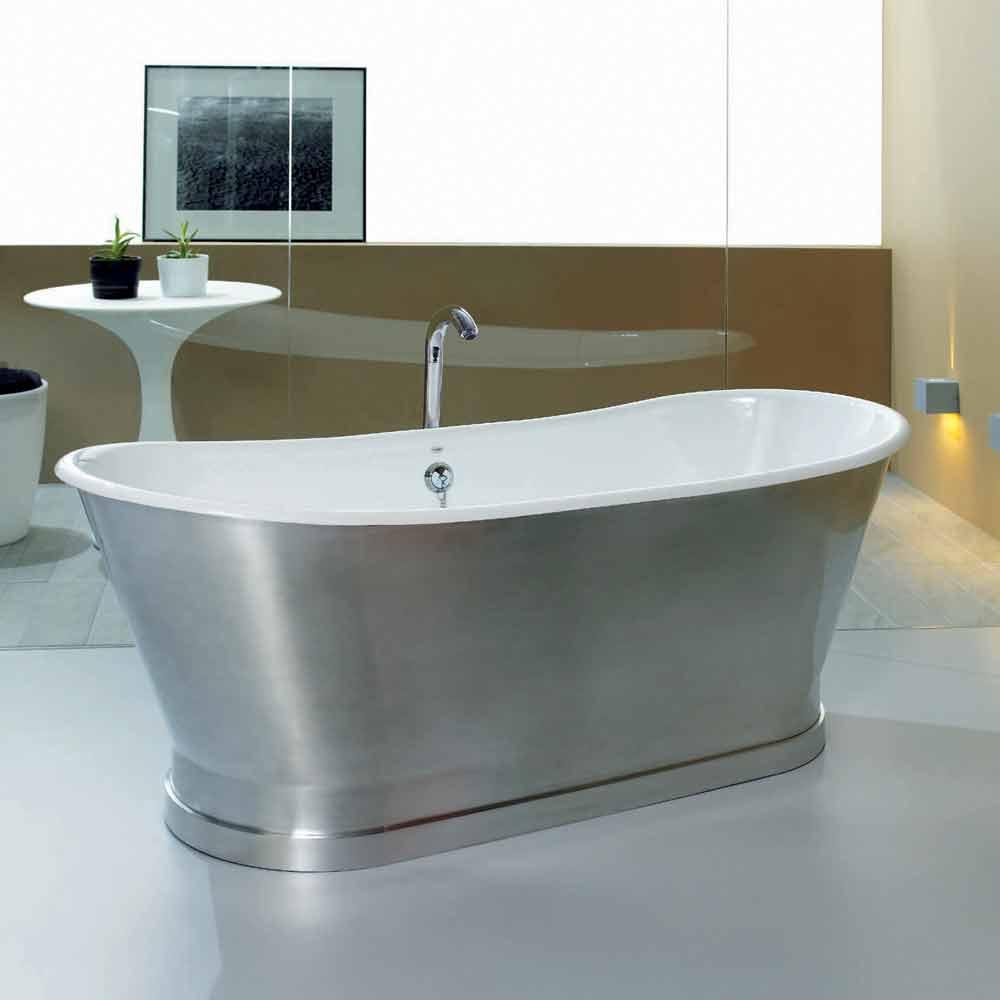 Baignoire de design au sol en fonte romeo for Vasca da bagno dwg