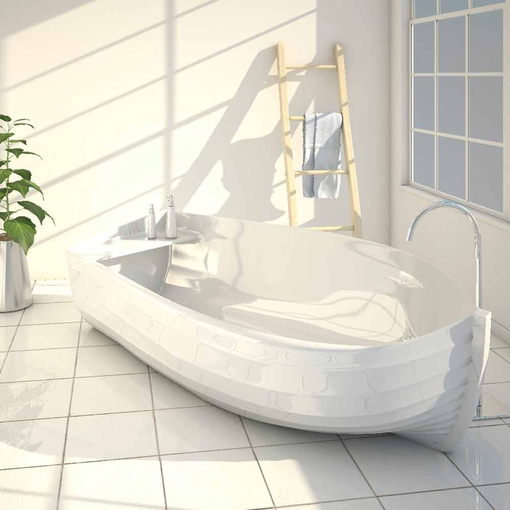Baignoire de design moderne ocean faite en italie for Moderne badewannen design