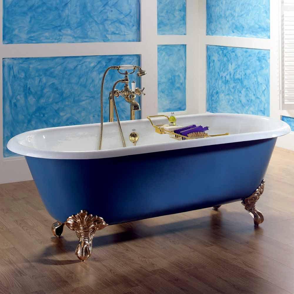 baignoire en fonte freestanding vernis avec pieds diane