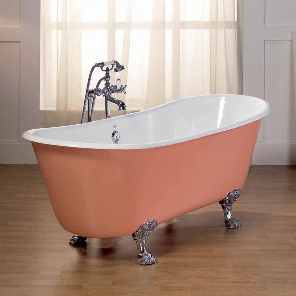 baignoire en fonte vernis avec pieds d cor s melissa. Black Bedroom Furniture Sets. Home Design Ideas