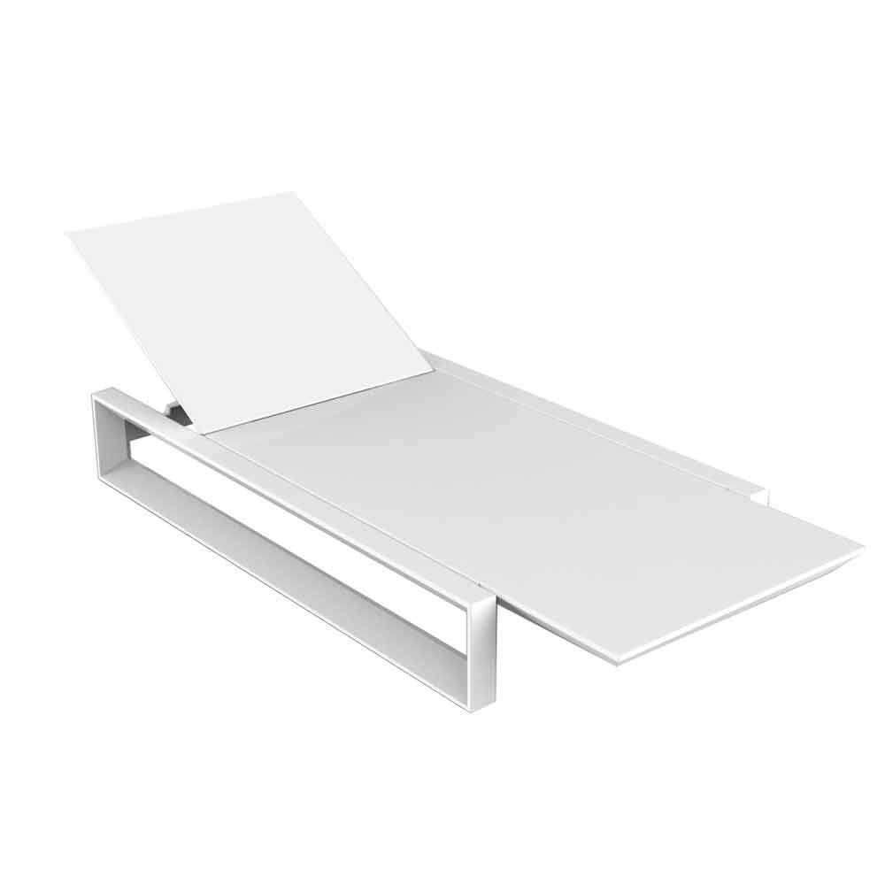 Vondom Frame transat de jardin de design en polyéthylène blanc