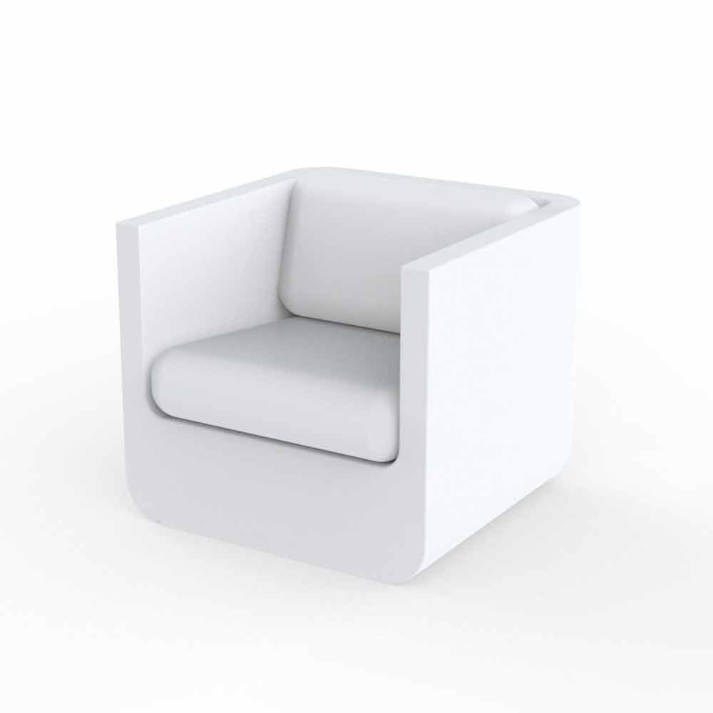 Vondom ulm salon d 39 ext rieur blanc en poly thyl ne de for Salon exterieur design
