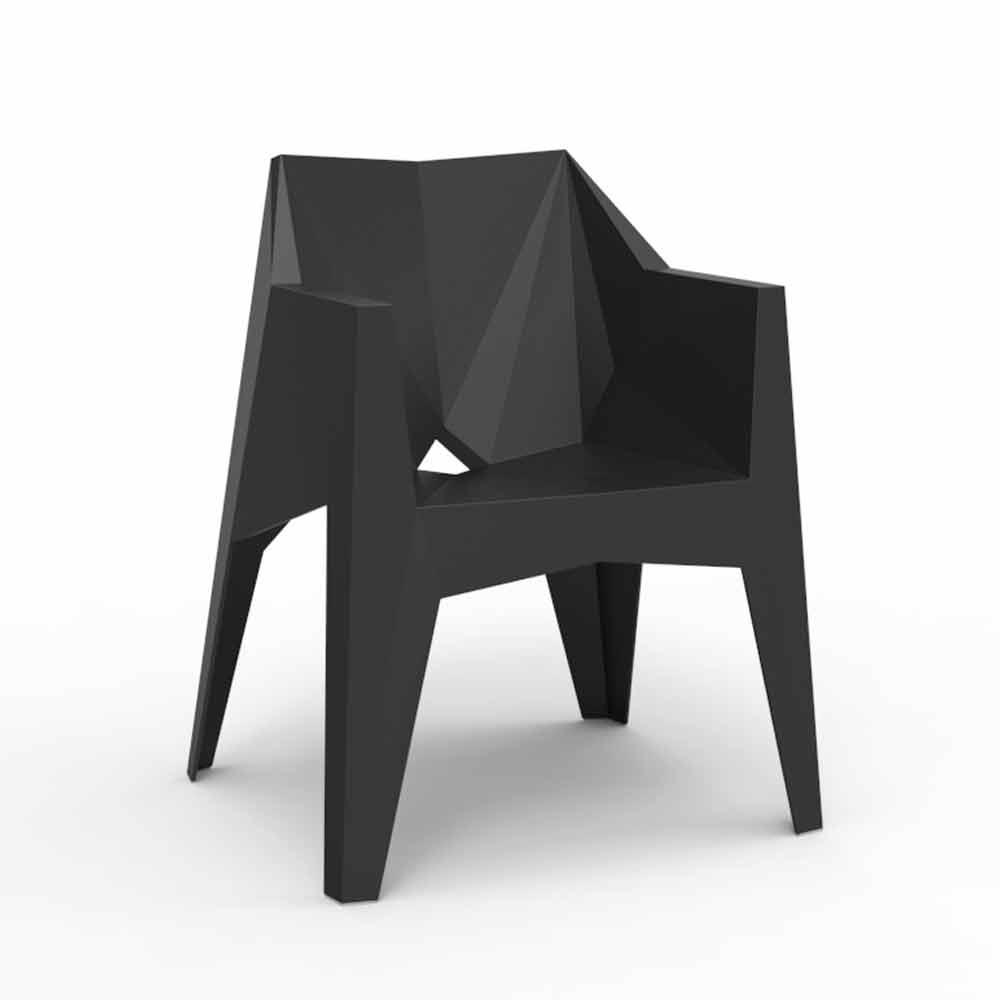 Vondom voxel chaise de jardin moderne color en poly thyl ne - Chaise de jardin coloree ...