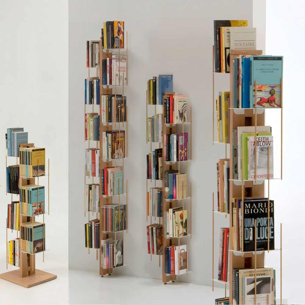 biblioth que sur pied fixer au mur zia veronica. Black Bedroom Furniture Sets. Home Design Ideas