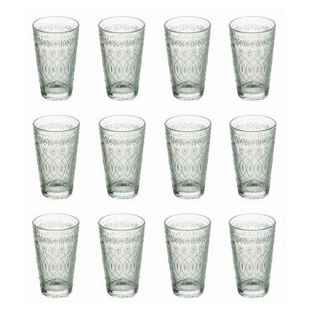 12 verres à boisson en verre transparent décoré pour boissons - Maroccobic