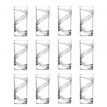12 grands verres à cocktail en cristal écologique italien - Cyclone