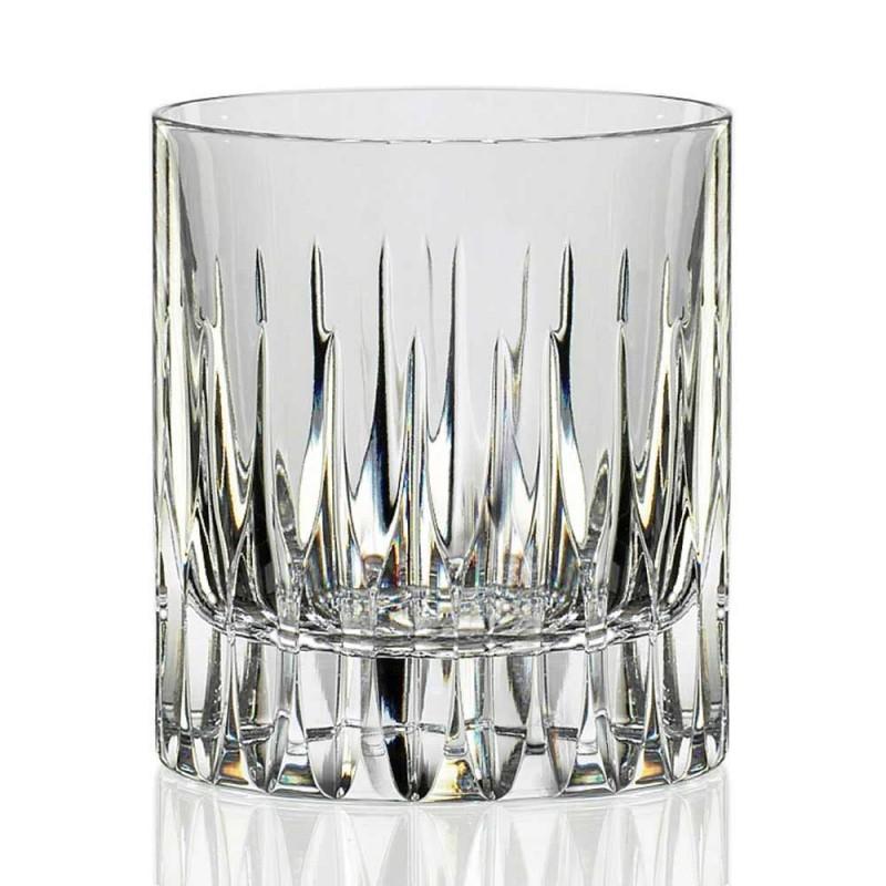 12 verres à whisky bas ou eau de verre en cristal écologique - Voglia
