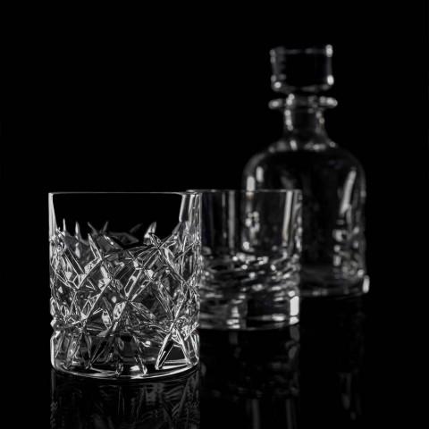 12 Dof Vintage Verres pour Eau ou Whisky Design en Cristal - Titane
