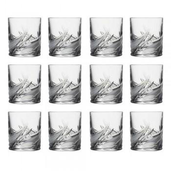 12 verres à whisky à faible teneur en cristal à double gobelet à l'ancienne - Avent