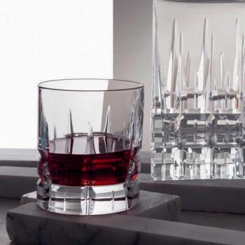12 doubles verres à whisky à l'ancienne Tumbler Basso en cristal - Fiucco