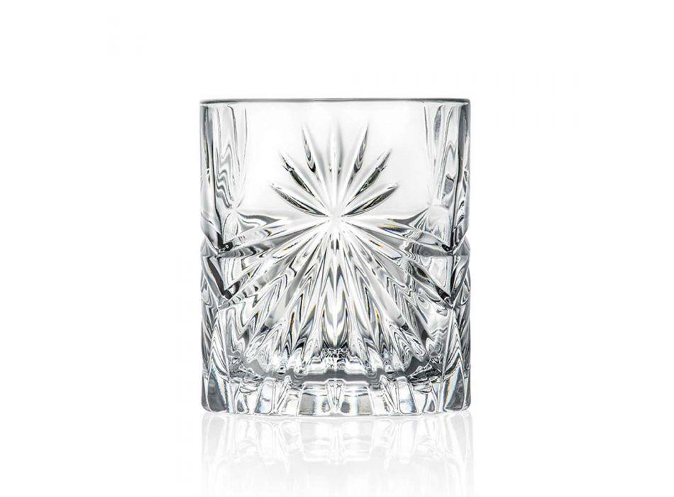 12 verres à double verre à l'ancienne dans un design éco-cristal - Daniele