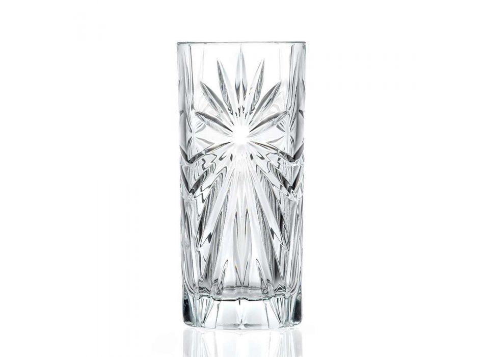 12 grands verres à cocktail Highball Tumbler au design éco-cristal - Daniele