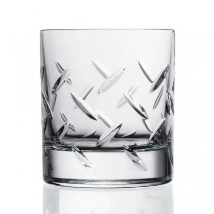 12 verres à whisky ou à eau en cristal écologique avec des décorations précieuses - Arythmie