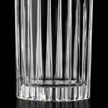 12 Verres Highball Tumbler en cristal écologique décoré - Senzatempo