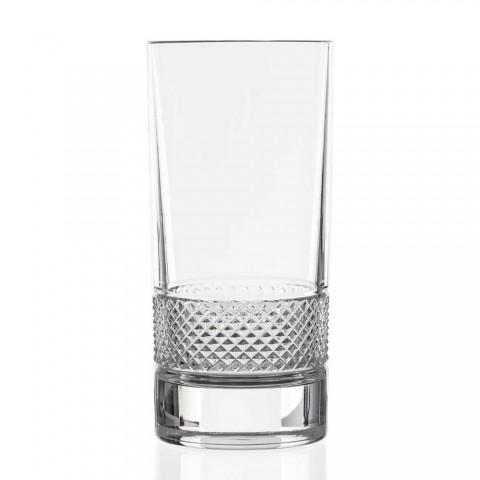 12 grands verres en cristal écologique décoré de luxe - Milito