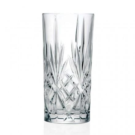 12 verres, haut gobelet, highball pour cocktail en cristal écologique - Cantabile