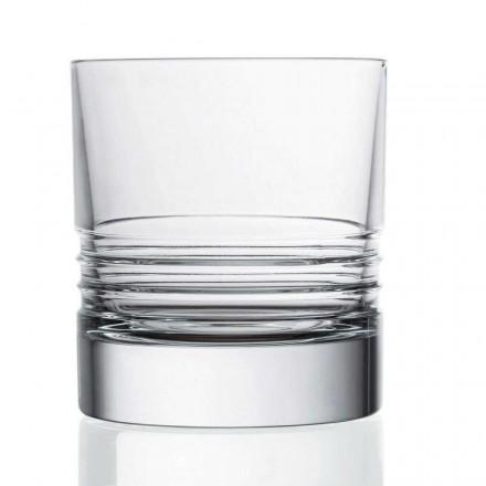 12 verres à whisky en cristal à l'ancienne double Tumbler - Arythmie