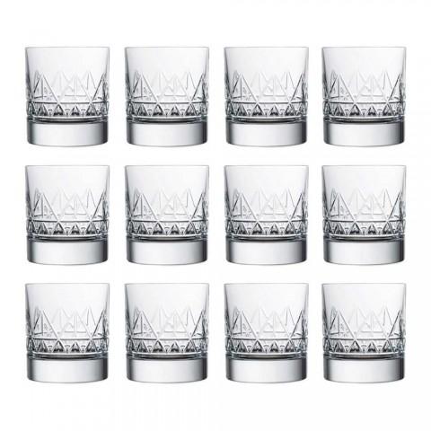 12 Verre à whisky ou à eau Design moderne de luxe en cristal - Arythmie