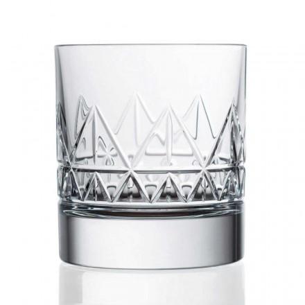 12 verres à whisky ou à eau de conception vintage de luxe en cristal - arythmie