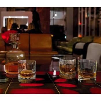 12 verres à whisky ou à eau dans un design vintage décoré de cristal écologique - Tactile
