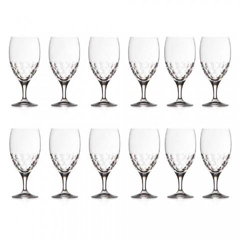 12 verres à bière en cristal écologique décoré de luxe - Titanioball