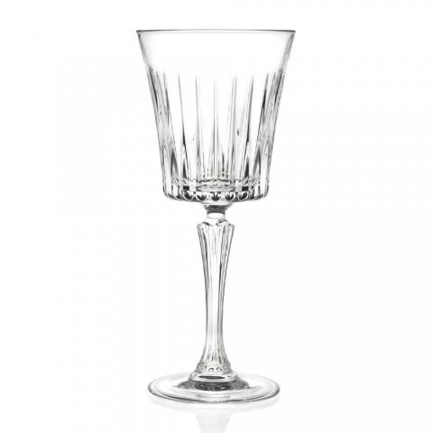 12 verres à vin à cocktail en cristal écologiques de luxe - Senzatempo