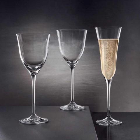 12 verres à vin blanc en cristal écologique design de luxe minimal - lisse