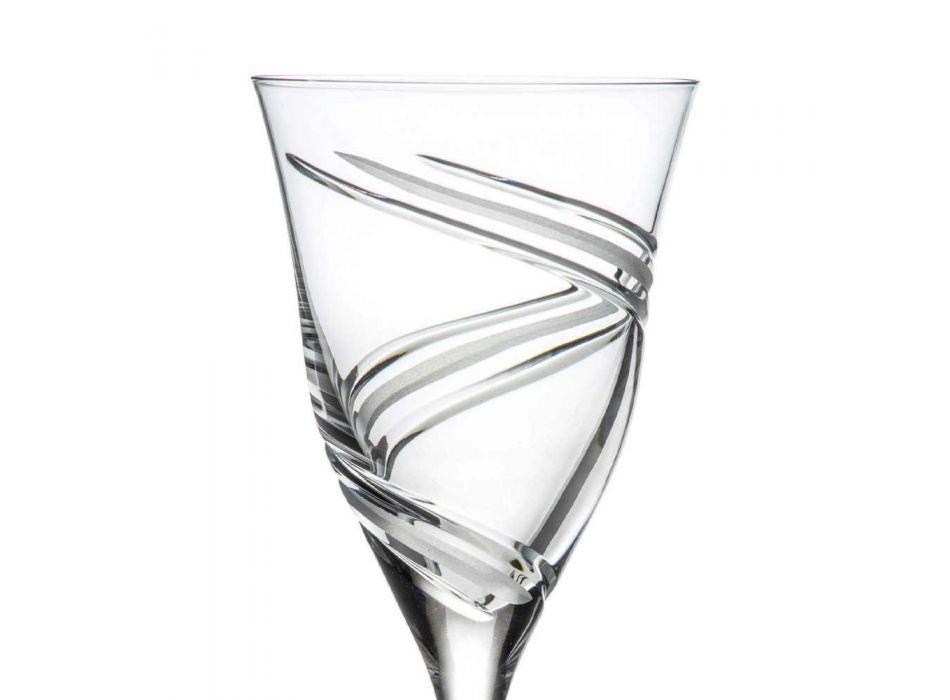 12 verres à vin rouge en cristal écologique de luxe sans plomb - Cyclone