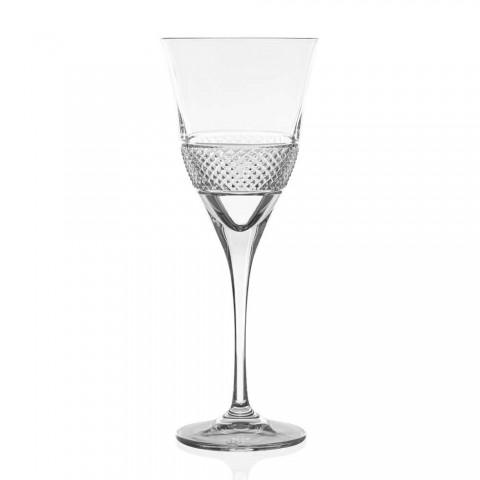 12 verres à vin rouge au design décoré élégant en cristal écologique - Milito