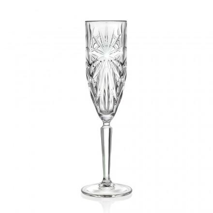 Verre 12 flûtes à champagne ou prosecco en cristal écologique - Daniele