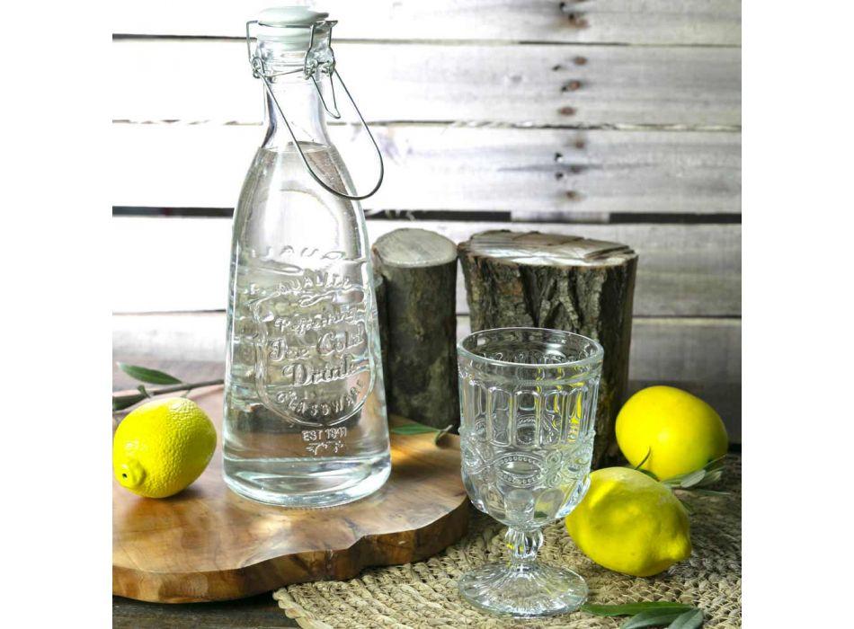 12 gobelets en verre transparent et décoré pour la table de Noël - Garbobic