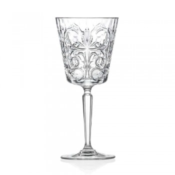 12 verres pour eau, boissons ou cocktails en cristal écologique décoré - Destino