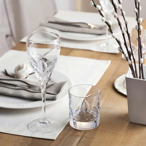12 verres de dégustation de vin design de luxe en cristal écologique - Montecristo