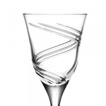 12 verres à vin blanc en cristal écologique décoré et satiné - Cyclone