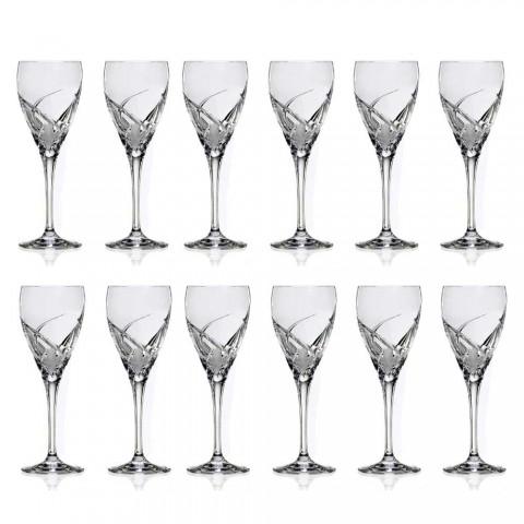 12 verres à vin blanc au design de luxe en cristal écologique - Montecristo