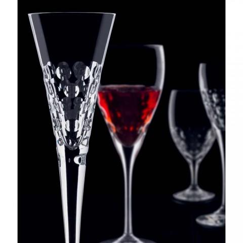 12 verres à vin Fluter Glasses pour Crystal Bubbles - Titanioball