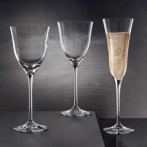 12 verres à vin rouge dans un design minimaliste de luxe en cristal écologique - lisse