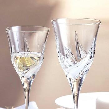 12 verres à vin blanc design de luxe en cristal écologique décoré à la main - Avent